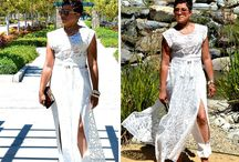 Embroidered Lace & Crepe for Summer / Doing Simplicity 8138 My Way!