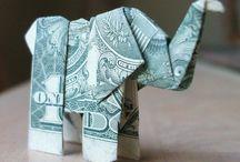 foldede pengesedler