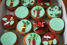 3 d cupcakes / cupcakes
