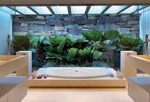 Зимний сад в ванной комнате