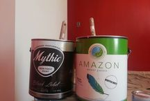 Be Green. Recycle Paint. Recycled Latex. / We recycle paint to raise money for charity.