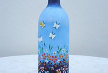 çiçekli şişe