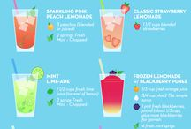Summertime Drinks / Summer is the perfect time to give new drinks a try! Here are some we would love to make this summer.