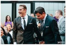 Anthony and Russell's New York Wedding / A broadway-inspired Brooklyn wedding, featured in the Fall 2014 issue of Martha Stewart Weddings.
