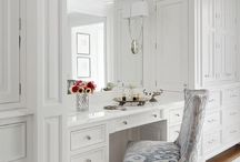 Built in bedroom vanity