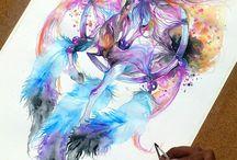 Álomfogó,watercolor