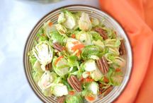 """Healthy """"yum""""!! / Brussel sprout salad!!!!"""