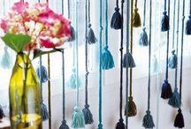 cortinas de pompones