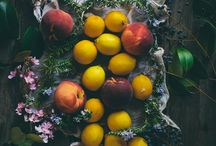 Eat seasons: summer / Mid Summer, the perfect time for an out door feast of newly ripened fruits, berries and flowers. / by n l kav