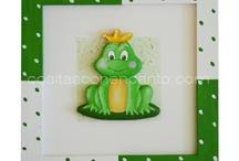 Decoración infantil personalizada / Cuadros infantiles con relieve. Personalizables Letras de madera Placas de puerta Casitas
