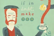 """Tea quotes / It's hard to find tea quotes that dont remind me of Laura Ashley & scones, so you may find some coffee classics """"infused"""" into this tea board, FYI."""