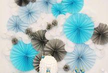 fiesta azul y blanco
