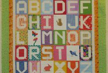 Children's Alphabet Quilts / child quilts with letters and words