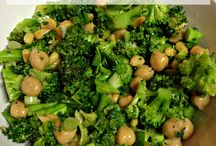 Chickpea Salad and broccoli