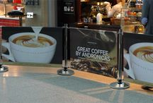 Cafe Barriers / Cafe Barriers , cafe banners and windbreaks with printed banners - www.discountdisplays.co.uk