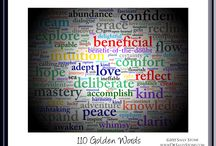 Golden Words —The A-To-Z Toolkit for Changing Your Life One Word at a Time / Artwork and info from my award-winning book — Golden Words: The A-to-Z Toolkit for Changing Your Life One Word at a Time