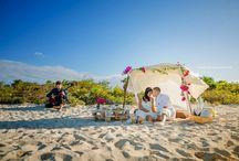 Belize Sandbar Wedding / Get Married on a Sandbar or Secluded beach on Ambergris Caye Belize. Contact us to arrange everything for you. www.dulcebelizeweddings.com
