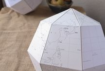 Paper globe and decor