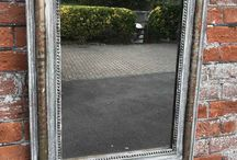 Antique Silvered Mirrors / Large antique silver mirror, silver framed mirrors, silver decorative mirrors, large ornate silver mirror, white framed mirrors, antique gilt mirrors, antique distressed arched top mirror, painted wall Louis Phillippe Mirror, arched top mirror and French painted mirrors.