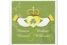 Irish Wedding Collection / Unique, elegant Irish wedding invitations + favors that feature beautiful Claddagh rings and Irish shamrocks. Perfect wedding essentials for beautiful Irish brides!