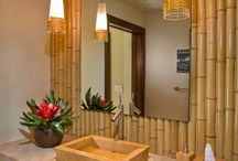 bambú en el baño
