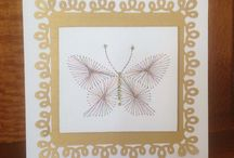 Stitched Cards by Marcia / Beautiful hand stitched cards