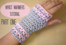 Crochet hand gloves