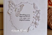 White square card with butterfly