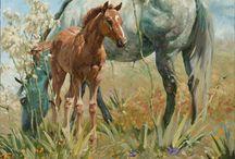 paarden tekenen/schilderen