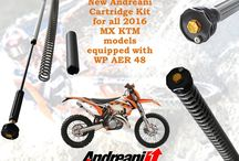 WP AER 48 / Andreani Modification kit for WP AER 48. Andreani Group has developed a  modification kit for WP Aer front fork. Adjustable in Spring preload, our cartridge modification will replace the WP AER 48 cartridge. You'll increase the fork flow giving more handling and comfort. It is available for all MX KTM 2016 models equipped with WP AER 48 front fork.  For info contact sales2@andreanigroup.com or sales@andreanigroup.com