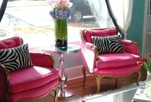 Living room makeover / More color like hot pink