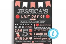 First Day or Last Day of School Chalkboard Sign / Editable first day or school or last day of school chalkboard printable templates. 16x20 or 8x10 and reusable!