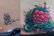 Tattoo work by Master Sasha Krank (cover-up tattoo) /  cover-up tattoo