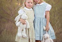 Elizabeth Pinafore and Eden Blouse / Creative Inspiration for the Handmaiden's Cottage Elizabeth Pinafore and Eden Blouse Girls' PDF Sewing Patterns