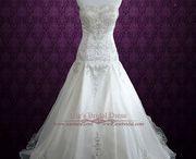 A-line Wedding Dresses / Ieie's Bridal Dress Boutique collection of A-line wedding gowns.