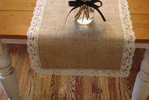 cortinas, caminho mesa