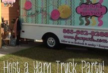 Classes, Sales, and Events at Four Purls Yarn Shop / Some of our offerings at the shop, as well as where you can find our yarn truck.