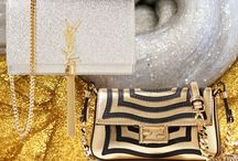 Silver and gold bags