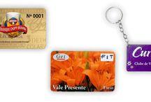 Cartões de PVC: cliente preferencial, associados, etc.