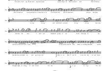 Music sheet for violin