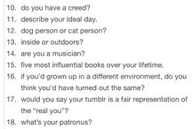 questionary things