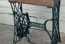 Vintage Sewing Machine Tables
