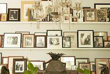 Family photo displays