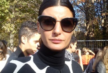 Giovanna Battaglia's smiles / Giovanna Battaglia is both a fashion icon and a talented fashion editor. I had the opportunity to exchange a few words with her. Truly a beautiful woman and a clever approachable person with a radiant smile.