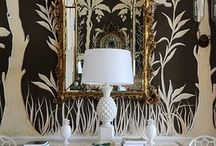 Wallpaper + Wall Murals / We're smitten for all things beautiful, especially gorgeous walls with flora or fauna details!