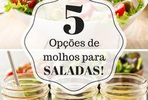 Molhos para saladas.