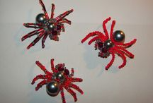 Spiders and scorpions / Pavoučci, pavouček, škorpion, škorpioni, spider, scorpion, bead, beads, korálkový