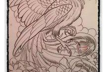 Tattoo uccelli