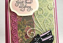 Shoes Vintage Labels Six Cling Stamps
