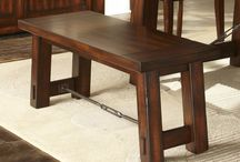 Kitchen & Dining Room Benches / These Benches can add some extra seating to any kitchen table. They all have matching tables and chairs to create a well balanced dining room or kitchen experience. A bench can replace any two chairs to create an asymmetrical design style.